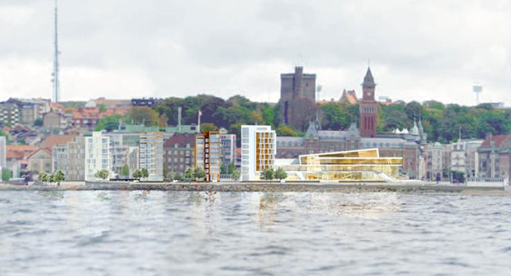 Kongresscenter bild Jais Arkitekter och Wingårdhs Arkitektbyrå