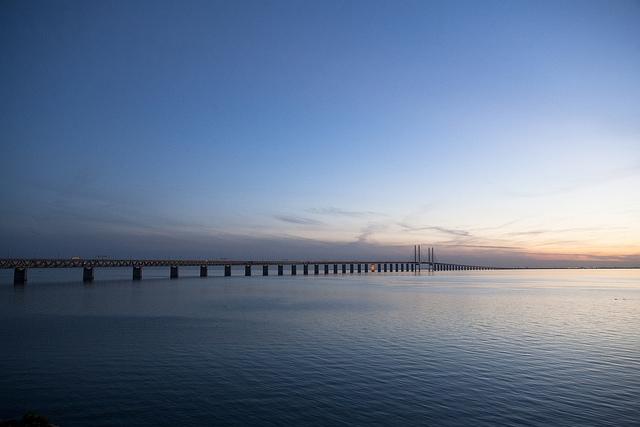 Oresundsbron solnedgang foto Johan Wessman