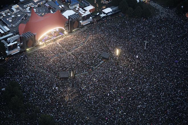 roskilde festival, Bruce Springsteen i fugleperspektiv