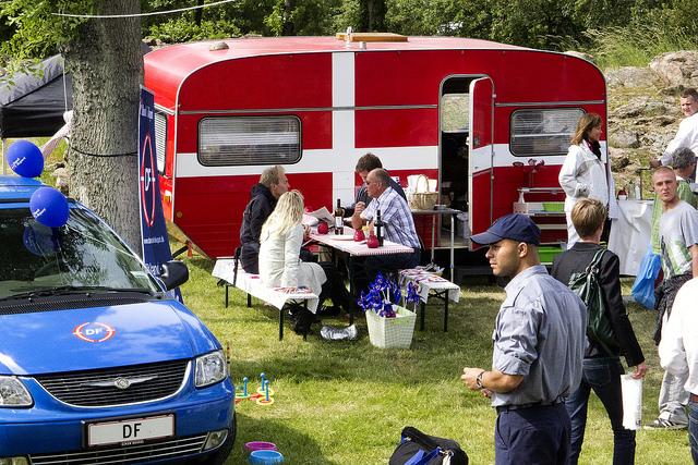 Dansk Folkeparti husvagn