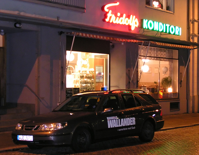 Kurt Wallanders favourite coffeshop, Fridolf's Conditori