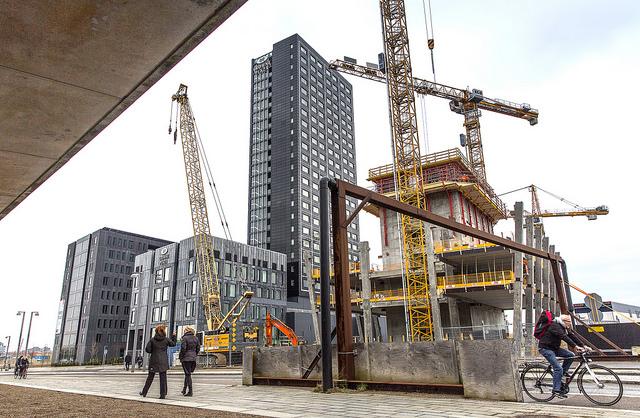 Byggarbetsplats Orestad webb