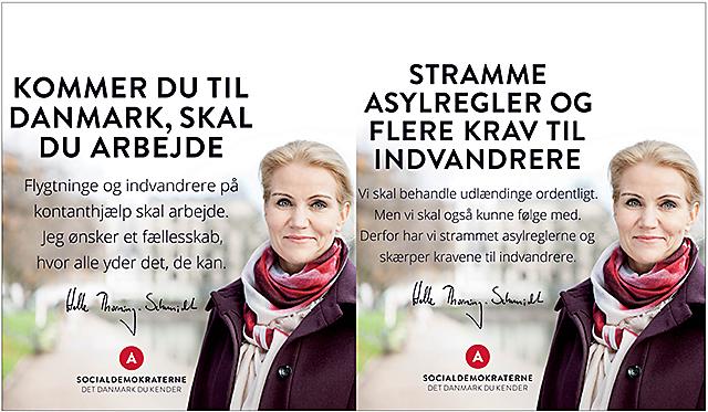 Socialdemokraterne kampanj webb