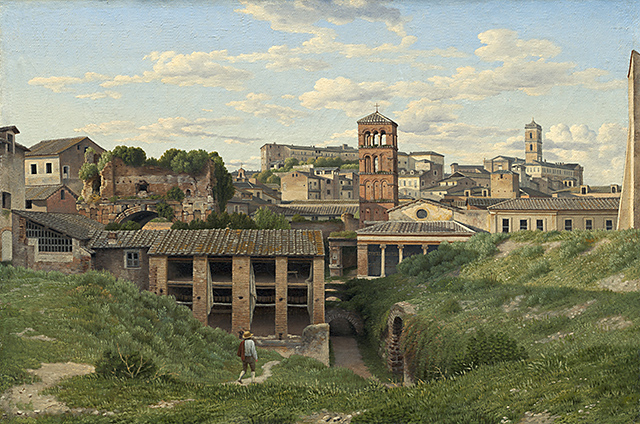 Christoffer Wilhelm Eckersberg (Danish, 1783 - 1853 ), View of the Cloaca Maxima, Rome, 1814, oil on canvas, Gift of Victoria and Roger Sant