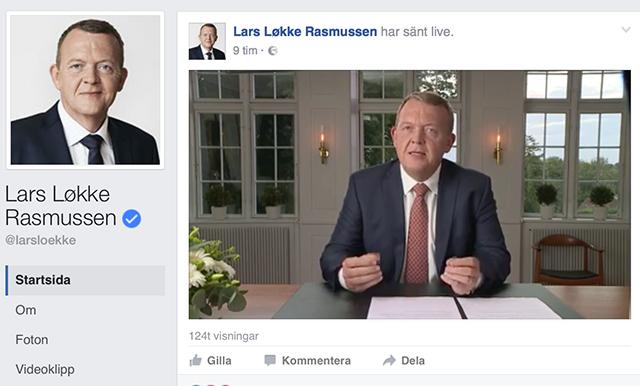 Lars lokke facebook webb