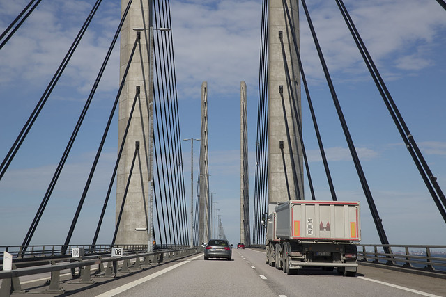 lastbil oresundsbron